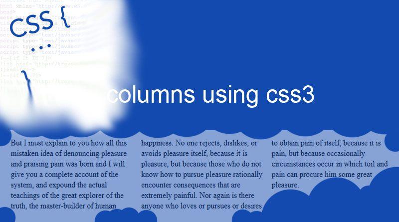 Columns using CSS3