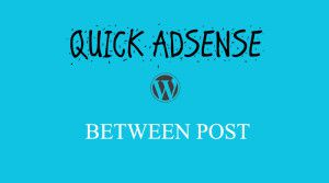 Adsense Between Wordpress