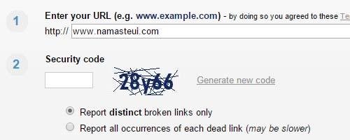 broken link check