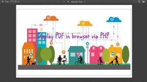 Display PDF in browser