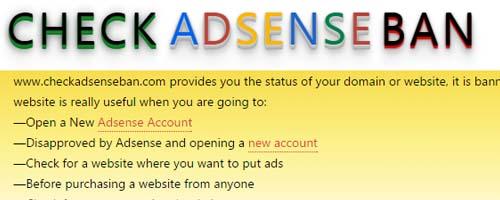 Check Adsense Ban