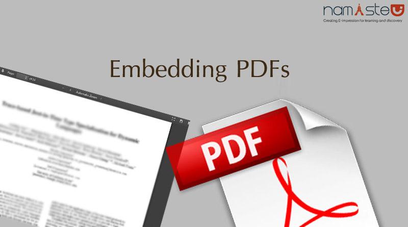 Embedding PDFs