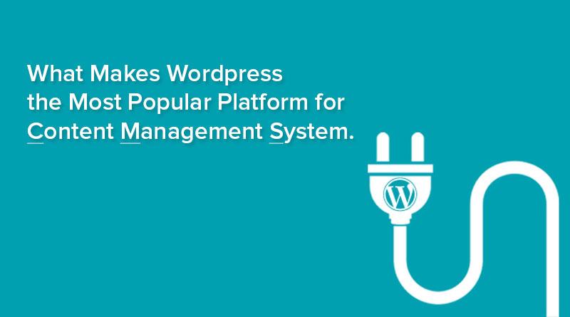 Wordpress - Most Popular Platform for CMS