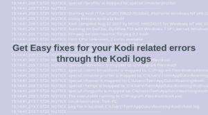 Kodi logs