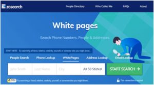 Zosearch Whitepages Review