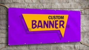 Custom-made banner